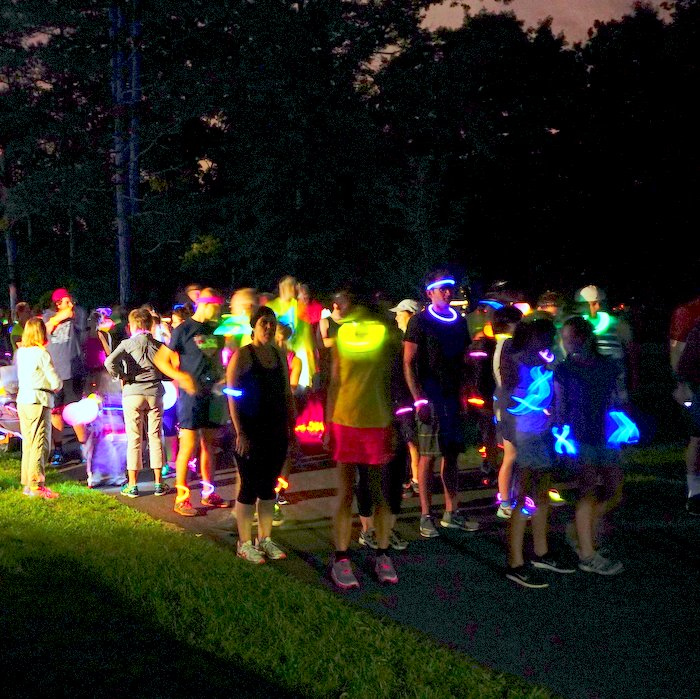 Run in the park after dark