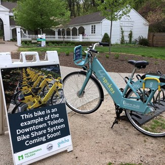 Bike Share Cycle on Display at Wildwood