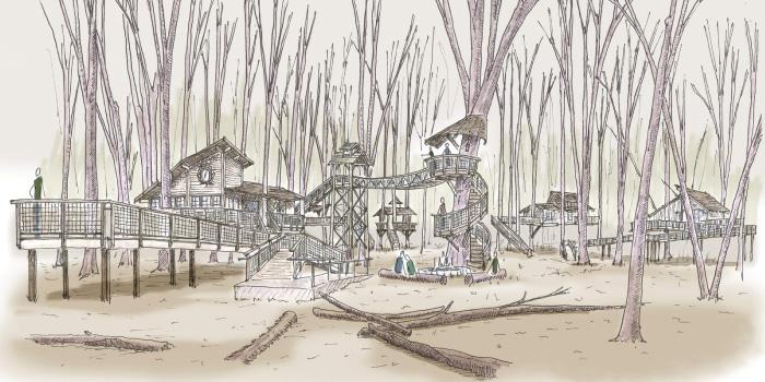 Cannaley Treehouse Village Metroparks Toledo