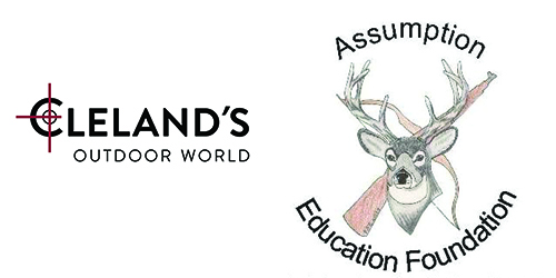 Cleland's Outdoor World and Assumption Education Foundation Sponsor Logo