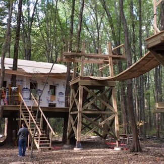 First Look: Treehouse Village Taking Shape at Oak Openings