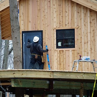 Therma-Tru Doors Add Warmth, Durability to Treehouse Experience